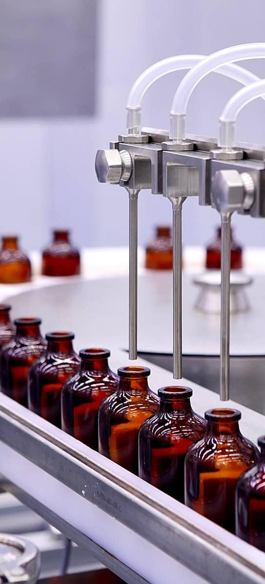 chaîne de production pharmaceutique