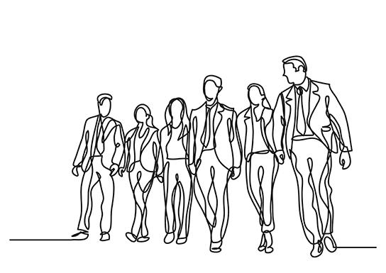 dessin de collaborateurs d'une entreprise